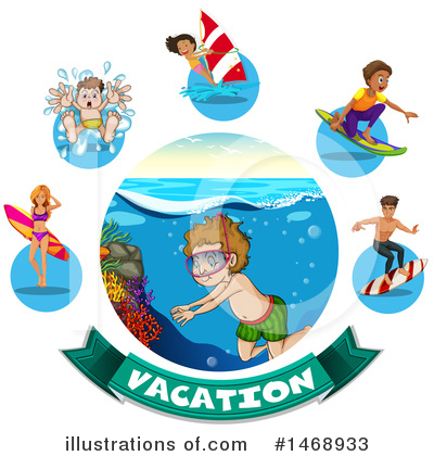 Swimming Clipart #1468933 by Graphics RF