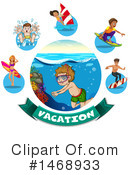 Royalty-Free (RF) Swimming Clipart Illustration #1468933