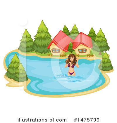 Swimming Clipart #1475799 by Graphics RF