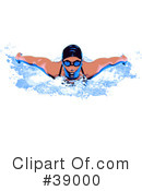 Royalty-Free (RF) Swimming Clipart Illustration #39000
