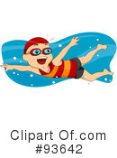 Royalty-Free (RF) Swimming Clipart Illustration #93642