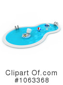 Royalty-Free (RF) Swimming Pool Clipart Illustration #1063368