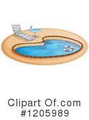 Swimming Pool Clipart #1205989 by Graphics RF
