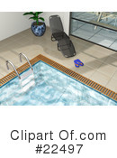 Royalty-Free (RF) Swimming Pool Clipart Illustration #22497