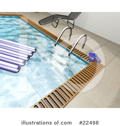 Royalty-Free (RF) Swimming Pool Clipart Illustration by KJ Pargeter - Stock Sample #22498