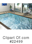 Royalty-Free (RF) Swimming Pool Clipart Illustration #22499