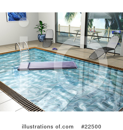 Royalty-Free (RF) Swimming Pool Clipart Illustration by KJ Pargeter - Stock Sample #22500