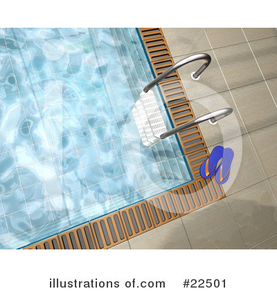 Royalty-Free (RF) Swimming Pool Clipart Illustration by KJ Pargeter - Stock Sample #22501