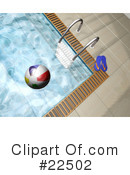 Royalty-Free (RF) Swimming Pool Clipart Illustration #22502