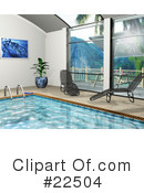 Royalty-Free (RF) Swimming Pool Clipart Illustration #22504
