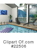 Royalty-Free (RF) Swimming Pool Clipart Illustration #22506
