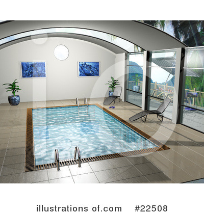Royalty-Free (RF) Swimming Pool Clipart Illustration by KJ Pargeter - Stock Sample #22508