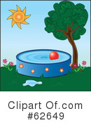 Royalty-Free (RF) swimming pool Clipart Illustration #62649