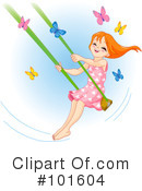 Royalty-Free (RF) Swinging Clipart Illustration #101604