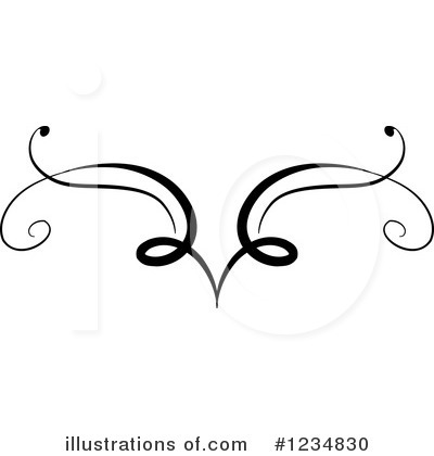 Swirls Clipart #1234830 by BNP Design Studio