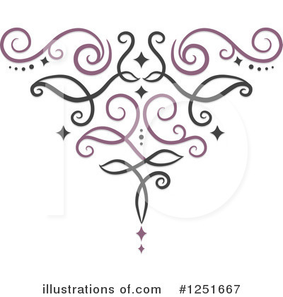 Swirls Clipart #1251667 by BNP Design Studio