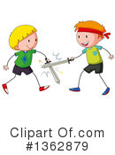 Sword Fighting Clipart #1362879
