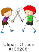 Sword Fighting Clipart #1362881