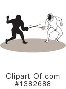 Sword Fighting Clipart #1382688 by patrimonio