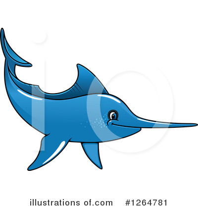 Marlin Clipart #1264781 by Vector Tradition SM