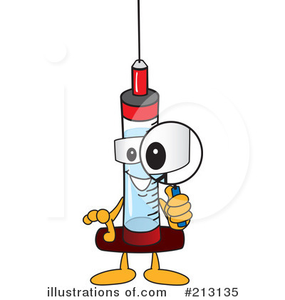 Syringe Mascot Clipart #213135 by Toons4Biz