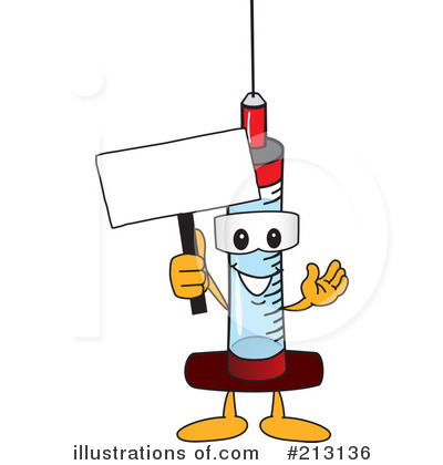 Syringe Mascot Clipart #213136 by Toons4Biz