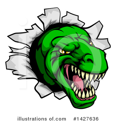 Dinosaur Clipart #1427636 by AtStockIllustration