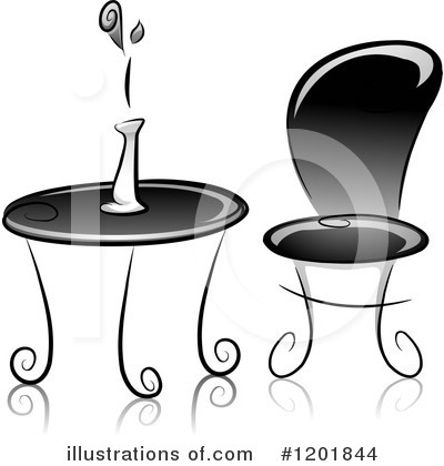 Table Clipart #1201844 by BNP Design Studio