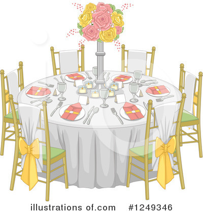 Royalty-Free (RF) Table Clipart Illustration by BNP Design Studio - Stock Sample #1249346