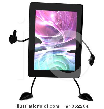 Tablet Clipart #1052264 - Illustration by Julos