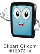 Royalty-Free (RF) Tablet Clipart Illustration #1097314