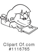 Royalty-Free (RF) Tablet Clipart Illustration #1116765