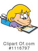 Royalty-Free (RF) tablet Clipart Illustration #1116797