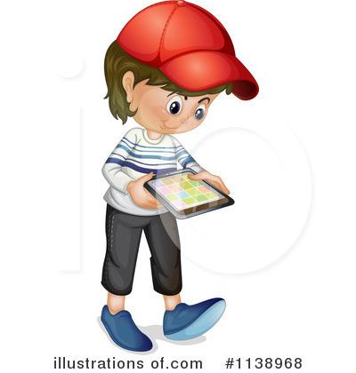 Tablet Clipart #1138968 - Illustration by colematt