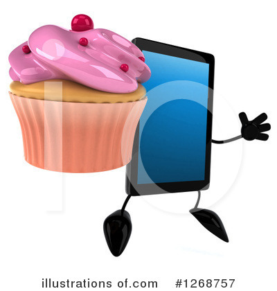 Royalty-Free (RF) Tablet Clipart Illustration by Julos - Stock Sample #1268757
