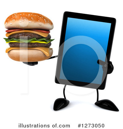 Royalty-Free (RF) Tablet Computer Character Clipart Illustration by Julos - Stock Sample #1273050