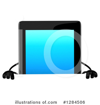 Tablet Computer Character Clipart #1284506 by Julos