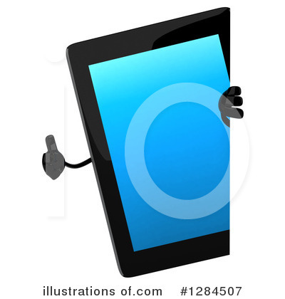 Tablet Computer Character Clipart #1284507 by Julos