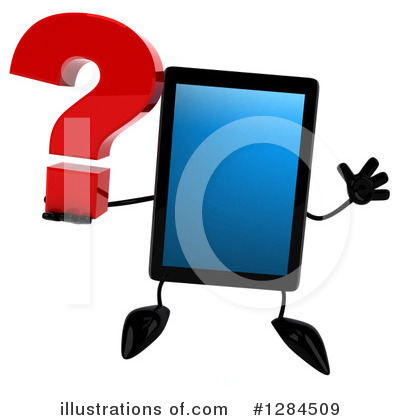 Tablet Computer Character Clipart #1284509 by Julos