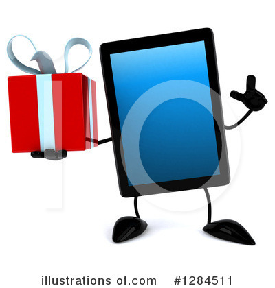 Royalty-Free (RF) Tablet Computer Character Clipart Illustration by Julos - Stock Sample #1284511