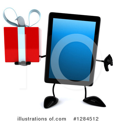 Tablet Computer Character Clipart #1284512 by Julos