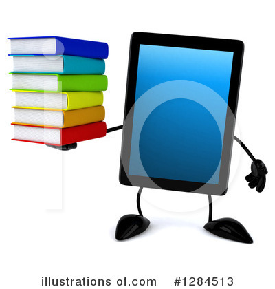 Royalty-Free (RF) Tablet Computer Character Clipart Illustration by Julos - Stock Sample #1284513