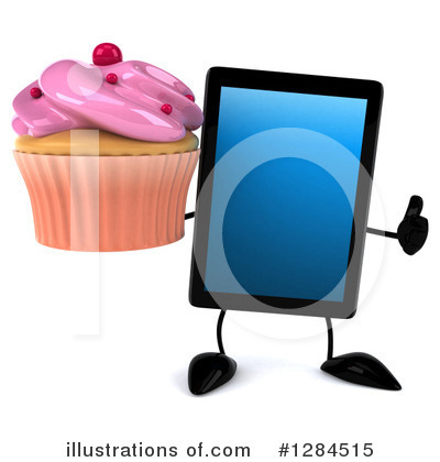Tablet Computer Character Clipart #1284515 by Julos