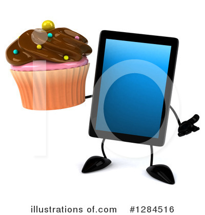 Tablet Computer Character Clipart #1284516 by Julos