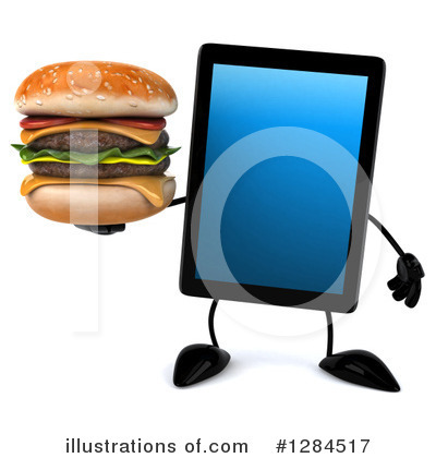 Tablet Computer Character Clipart #1284517 by Julos