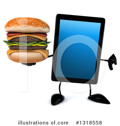 Tablet Computer Character Clipart #1318558 by Julos