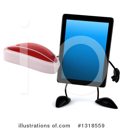 Tablet Computer Character Clipart #1318559 by Julos