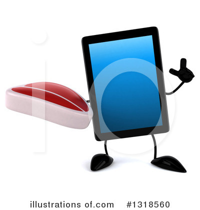 Tablet Computer Character Clipart #1318560 by Julos