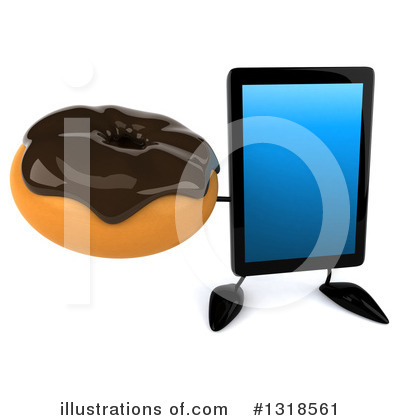 Tablet Computer Character Clipart #1318561 by Julos