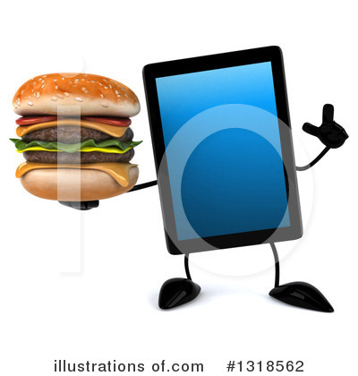 Tablet Computer Character Clipart #1318562 by Julos